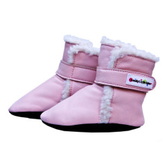 Baby boots in pink