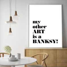 Banksy typographic art print (various sizes)