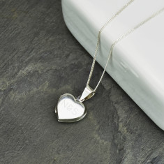 Monogram Personalised Sterling Silver Heart Locket