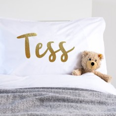 Metallic Gold Personalised Pillowcase