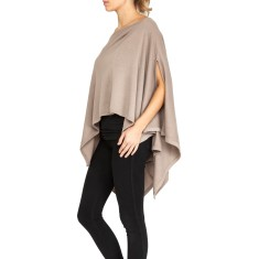 Three in one cashmere poncho