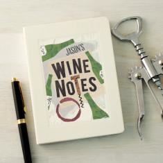Personalised Wine Lover's Notebook