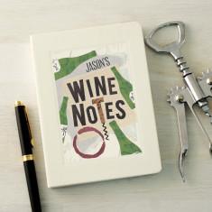 Personalised Wine Lover's Notebook