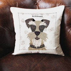 Schnauzer personalised cushion cover