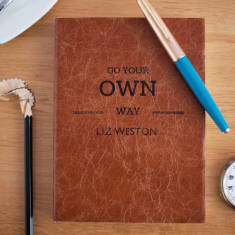 Go Your Own Way Personalised Notebook