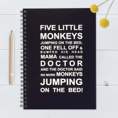 Five Little Monkeys Notebook