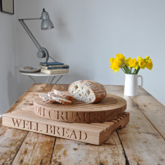 Personalised Oak Slatted Bread Board (rectangular)