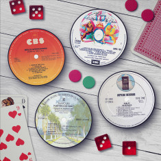 Classic album record label coasters