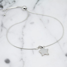 Little star sterling silver slider bracelet