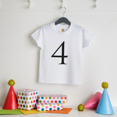 Personalised Birthday Age T Shirt