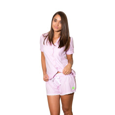 Pink herringbone women's boxer shorts