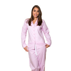 Pink herringbone women's pj pants