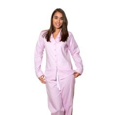 Pink herringbone women's pj pants