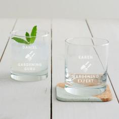Personalised Gardening Tumbler Glass