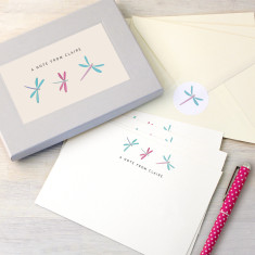 Personalised Dragonflies Writing Set