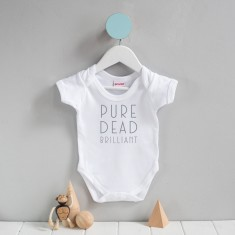 Scottish Baby Grow 'Pure Dead Brilliant'