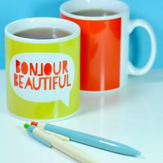 Bonjour beautiful mug