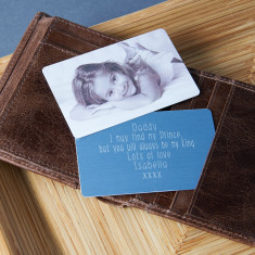 Personalised photo keepsake wallet card