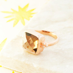 Candy Rawa Ring With Smoky Quartz