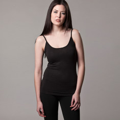 Bamboo camisole singlet in black