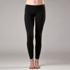Bamboo full-length leggings in black
