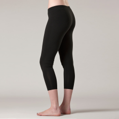 Bamboo & organic cotton 3/4 cropped leggings