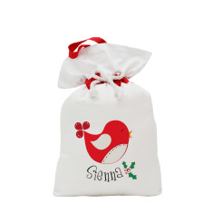Personalised Christmas birdy Santa sack