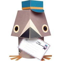 Paper toys pigeon voyageur