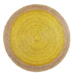 Canary pinwheel rug