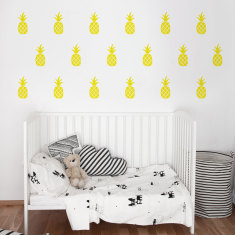 Pineapples wall decal