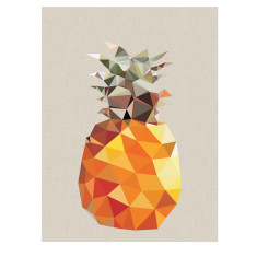 Geometric pineapple art print