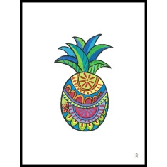 Pineapple art print (various designs)