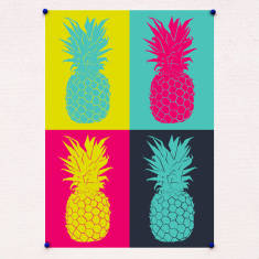 Pineapple pop art print