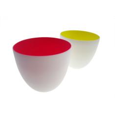 Ceramic Bowls: Pink + Yellow