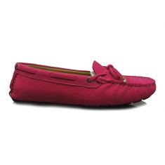 Women's Jade rope matte suede fuchsia pink loafers