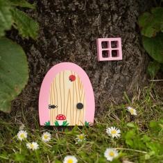 Pink blossom garden & home fairy door