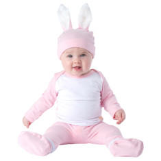 Bunny pink baby four piece set