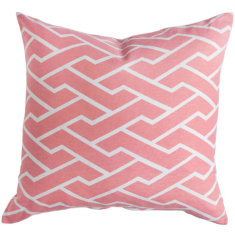 Pink city maze cushion