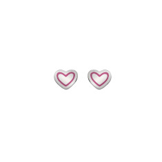 Heart Earrings (pink or silver)