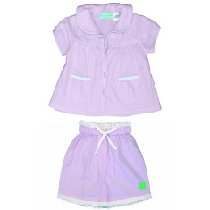Pink Herringbone girls' pj set