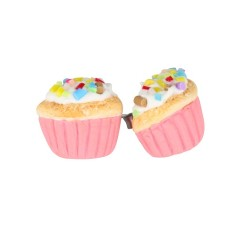 Pink cupcake earrings