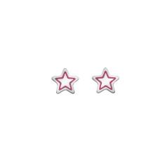 Star earrings (pink or silver)