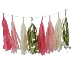 Tassel garland in vintage pink