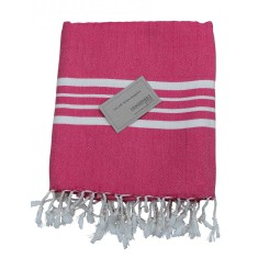 Turkish beach towel in pink