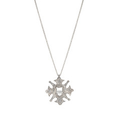 The Fine Sovereign Star Necklace - Silver
