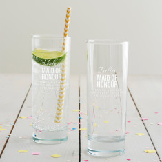 Personalised Maid Of Honour Hi Ball Glass