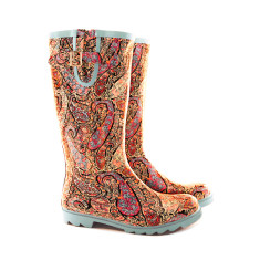 Boot wellies in paisley