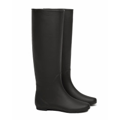 Peta matt black rubber wellies