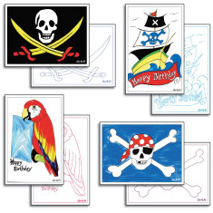 Pirate card making pack