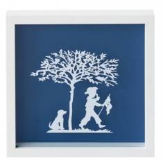 A pirate and his dog vintage kids paper cut